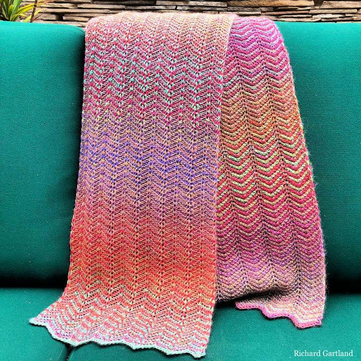 Crochet Zig Zag Scarf Pattern