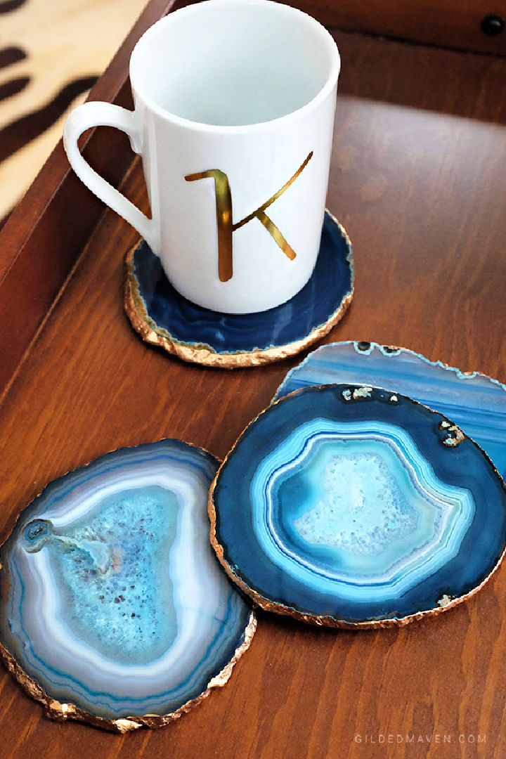 DIY Agate Coasters