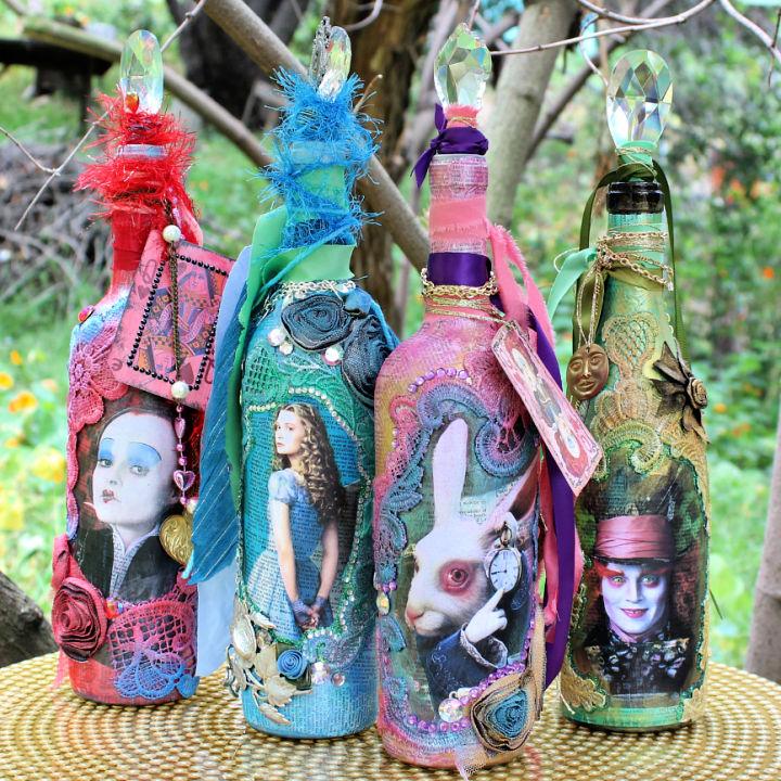 DIY Alice Glass Bottle