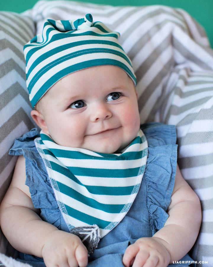 DIY Baby Bib and Hat