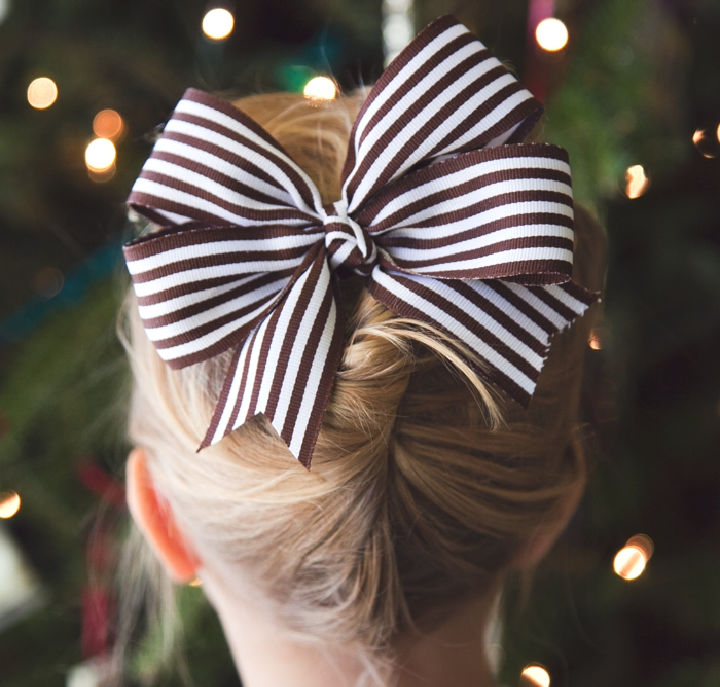 DIY Big Texas Hair Bow