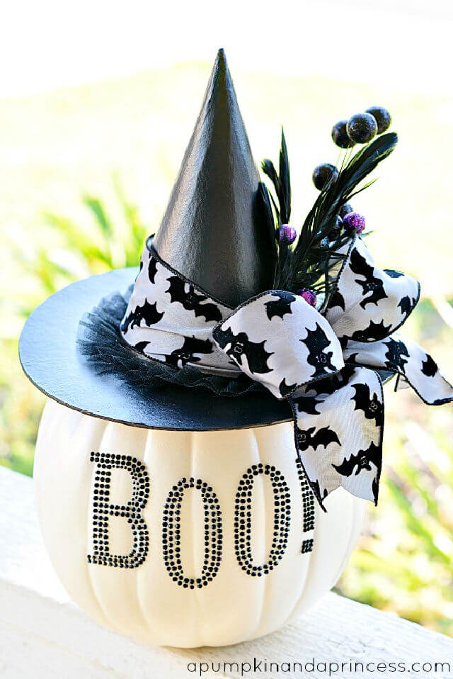 DIY Black White Glam Pumpkin