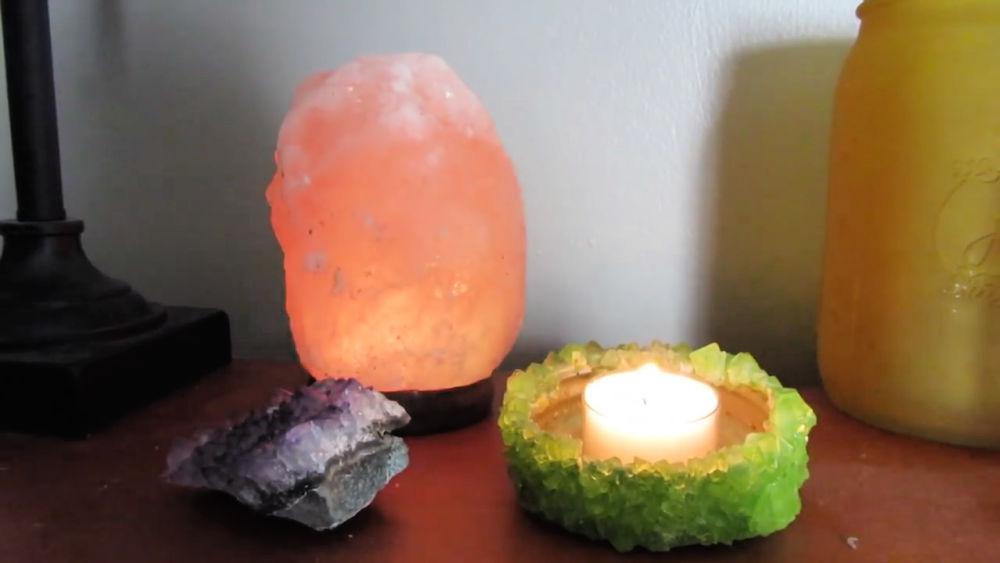 DIY Crystal Candle Holder