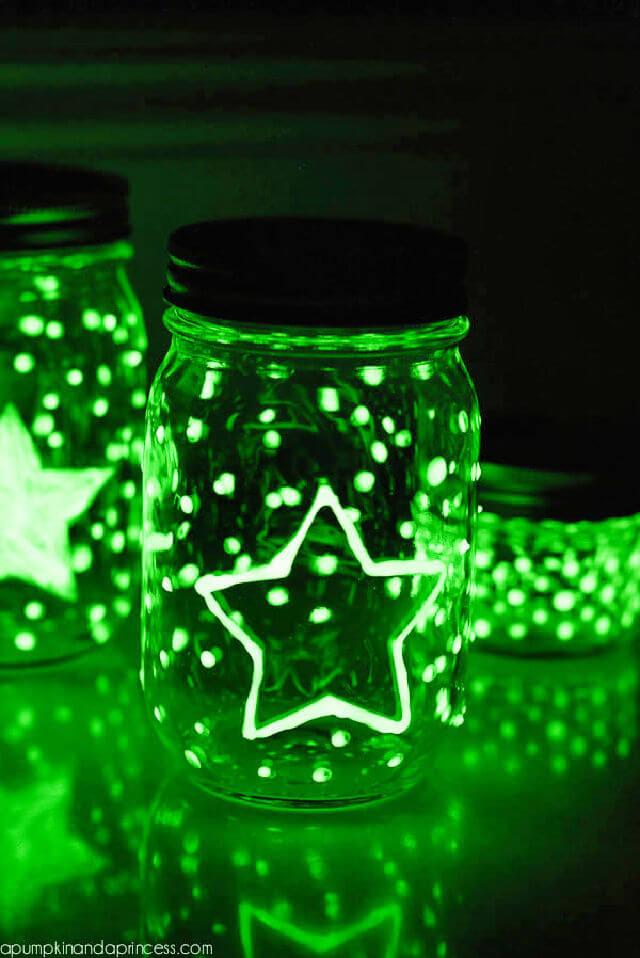 DIY Glow in the dark Mason Jars