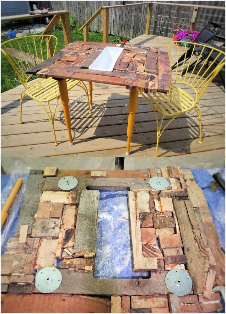 DIY Pallet Wood Dining Table