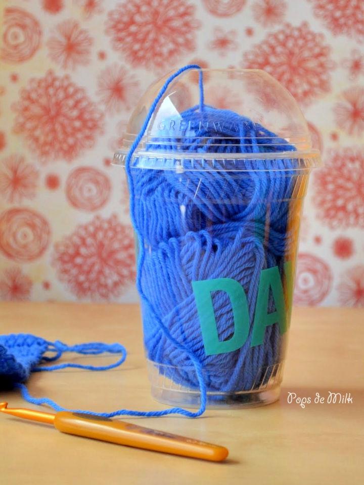 DIY Plastic Bottle Yarn Holder
