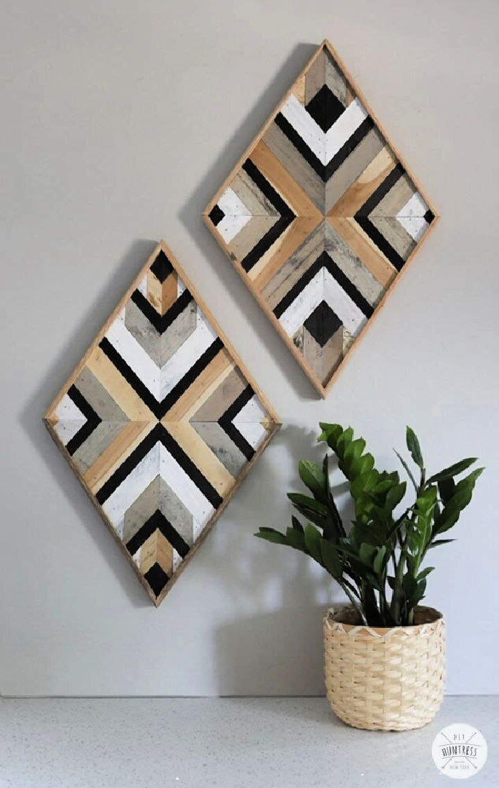 DIY Scrap Wood Wall Art