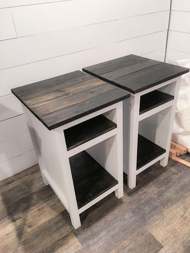 DIY Tall End Tables