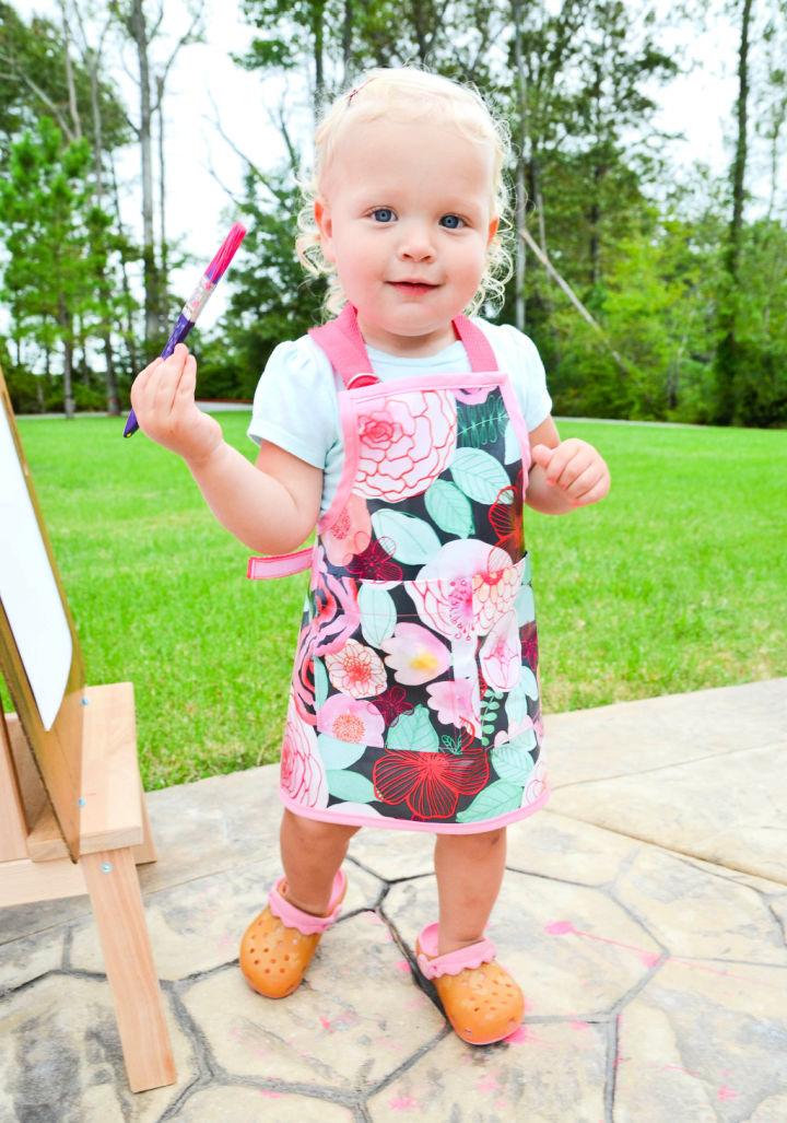 DIY Toddler Smock Apron