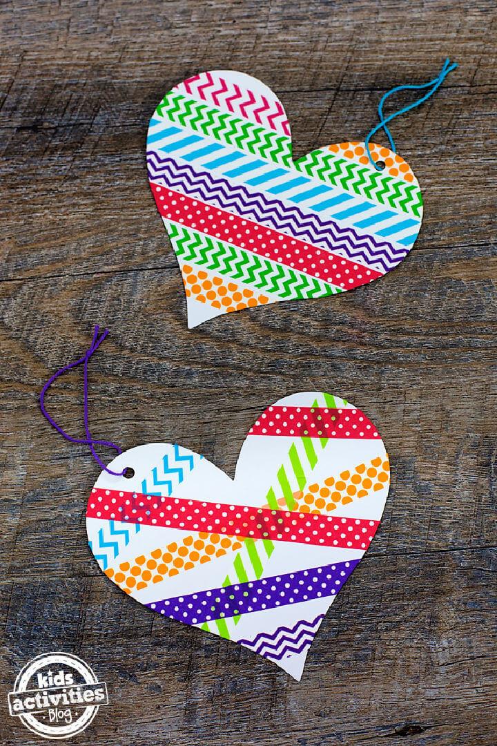 DIY Washi Tape Heart