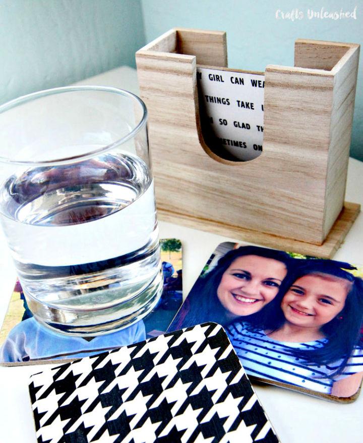DIY Waterproof Photo Coasters
