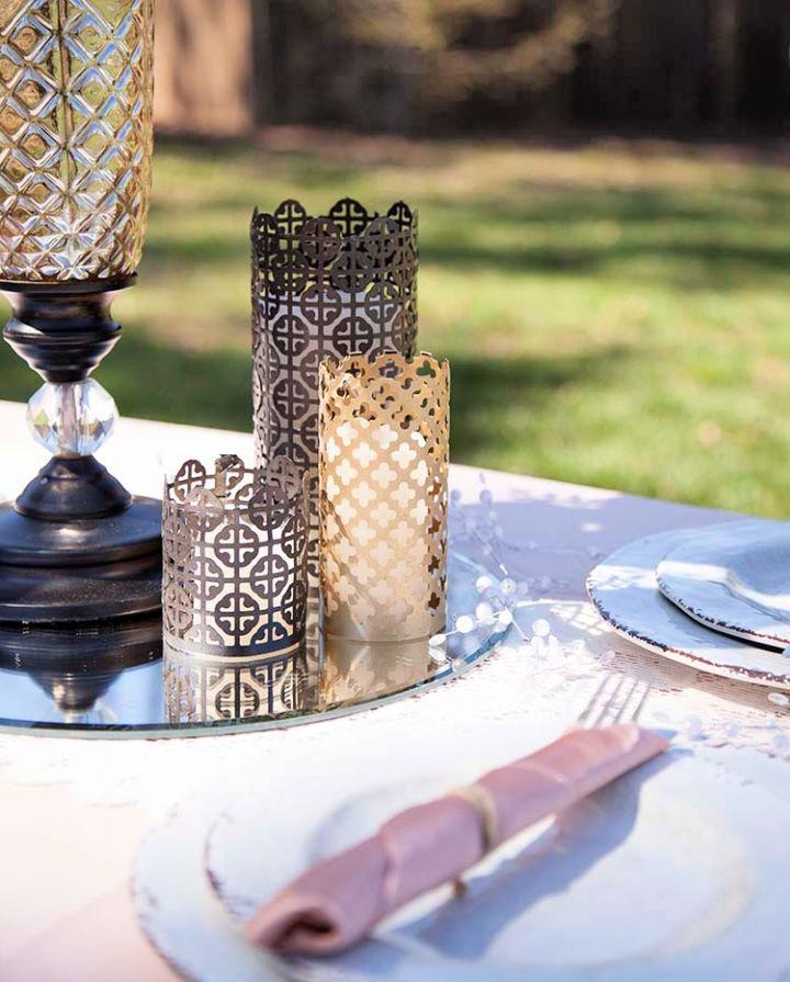 DIY Wedding Candle Holders