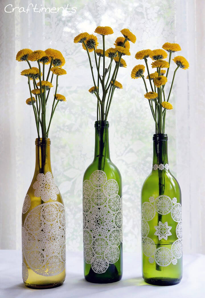 DIY Wine Bottle Centerpiece