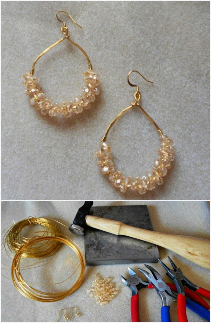DIY Wire Wrapped Teardrop Earrings