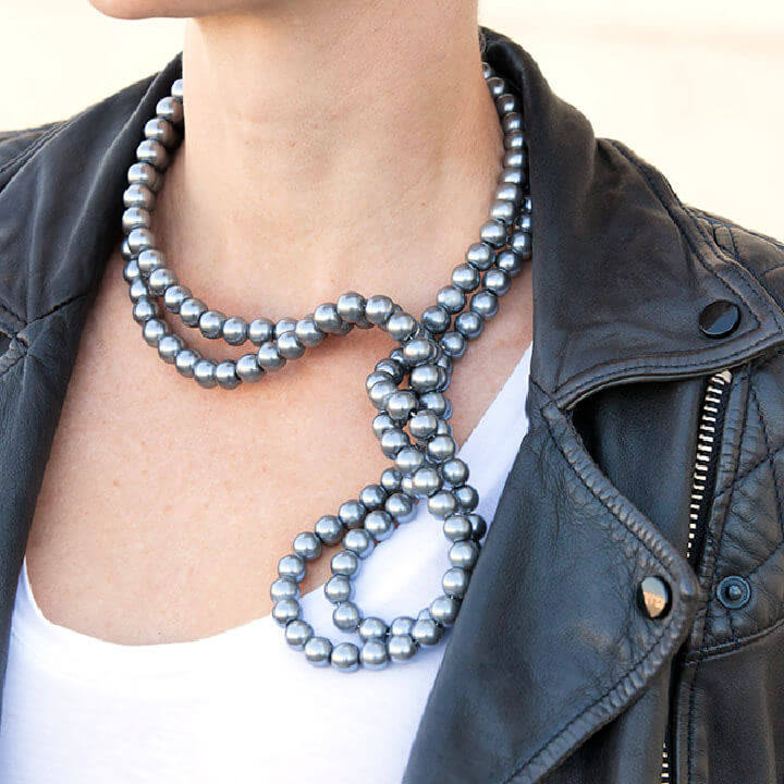 DIY Wired Pearl Necklace