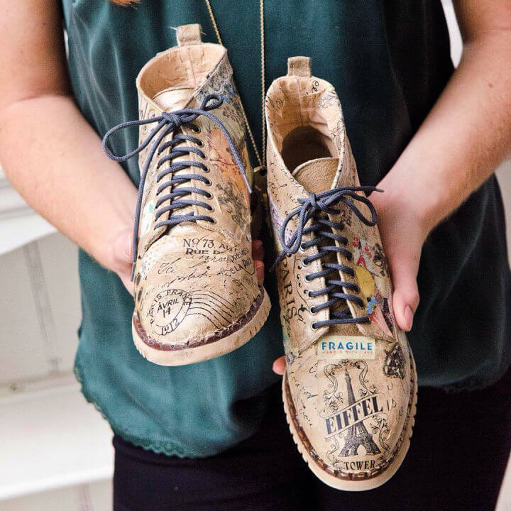 Decoupage Your Leather Boots