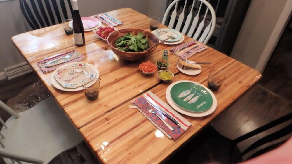 Dining Table From Reclaimed Pallet