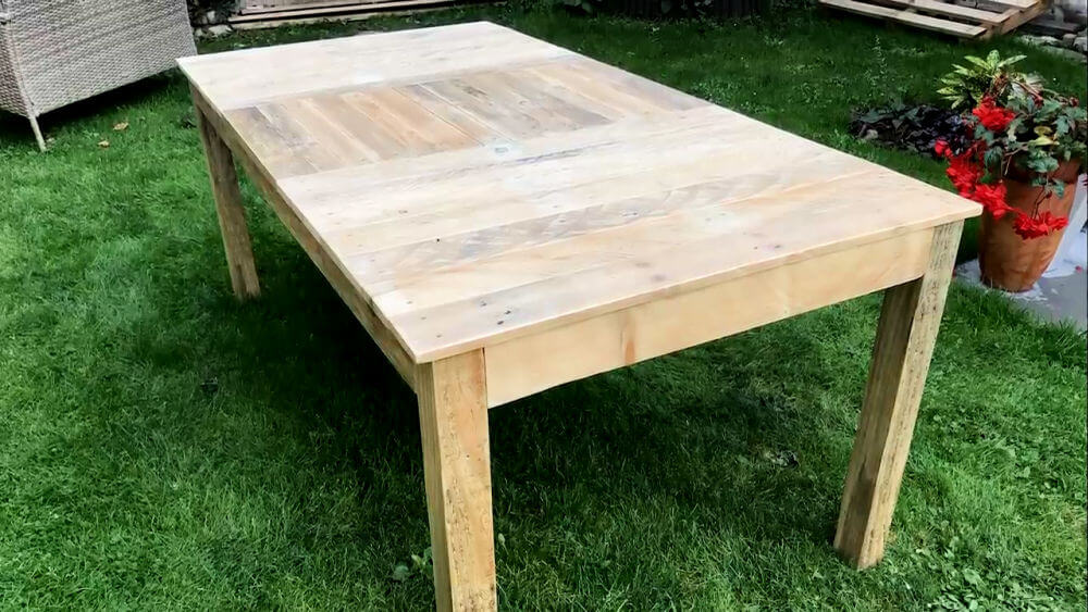 Dining Table from Pallet Wood