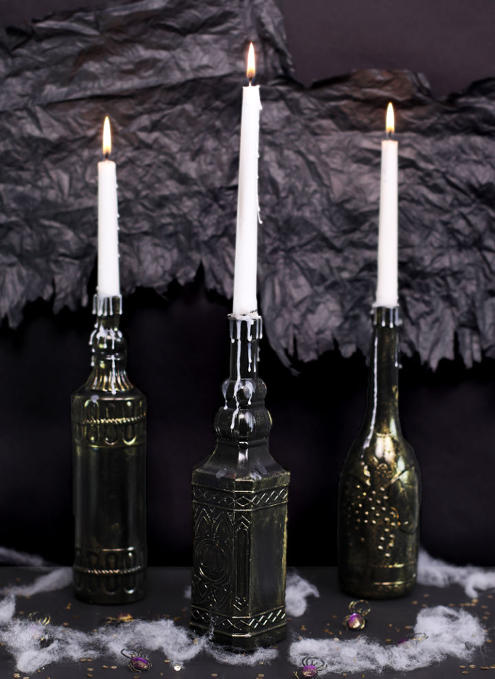 Dollar Store Halloween Candle Holders