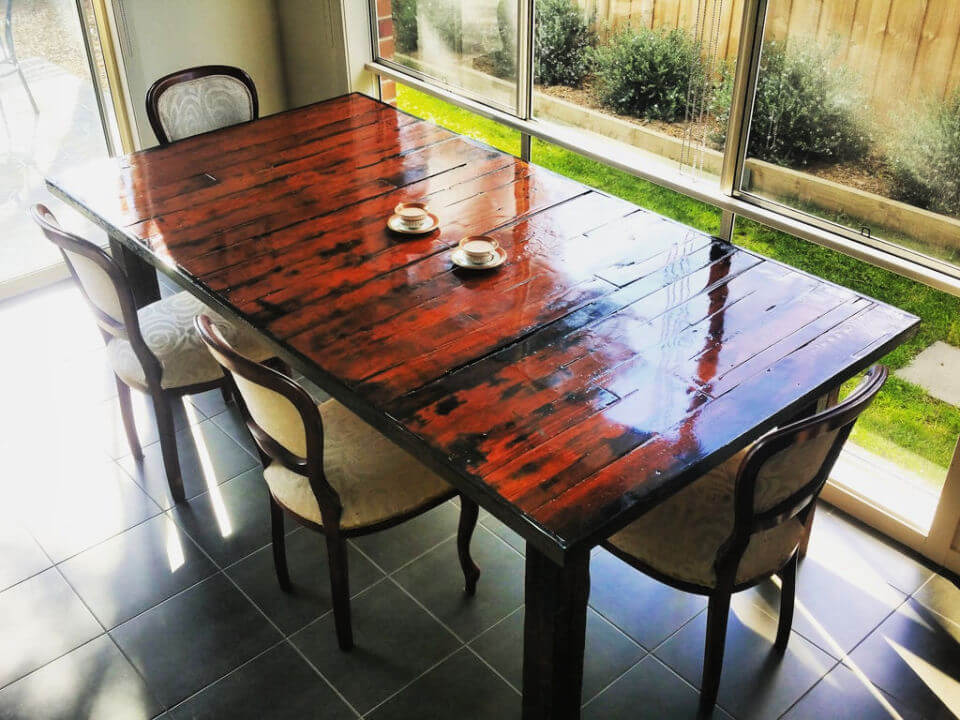 Easy DIY Pallet Dining Table