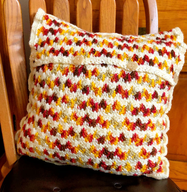 Embrace Autumn Crochet Pillow Cover