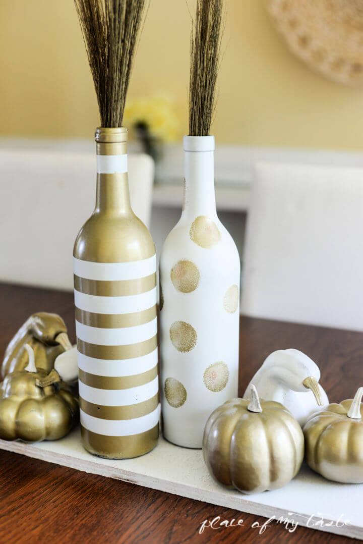 Fall Wine Bottles Centerpiece