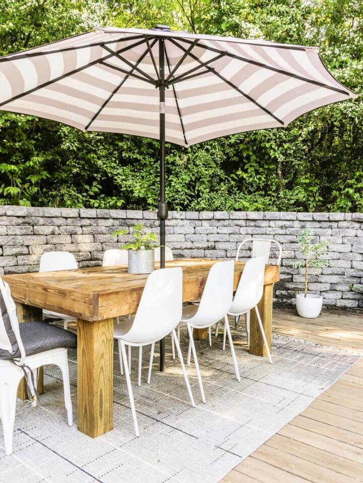 Farmhouse Outdoor Dining Table