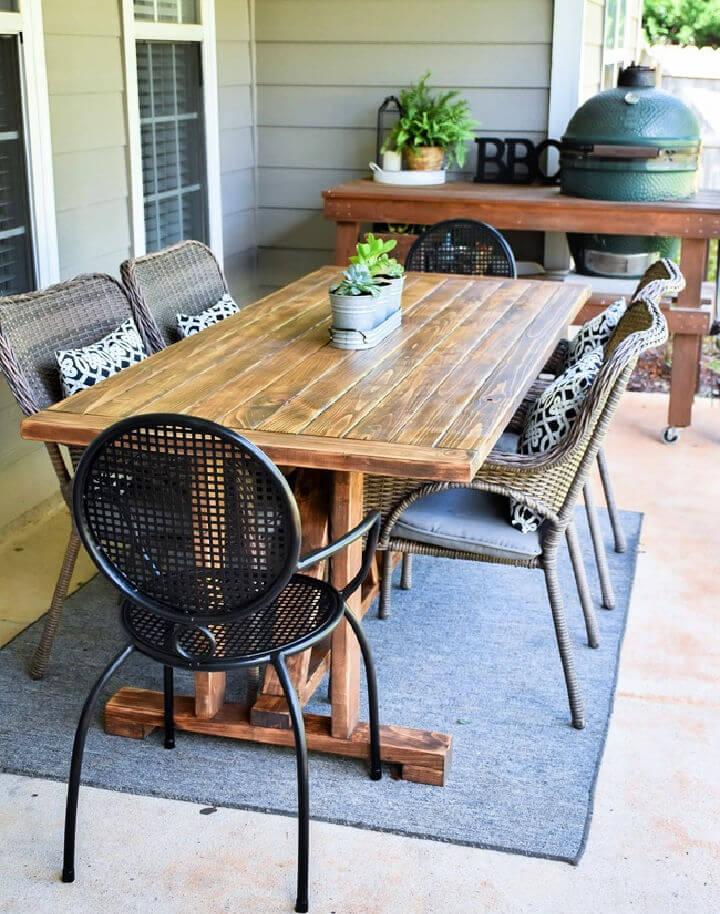 Farmhouse Outdoor Patio Table