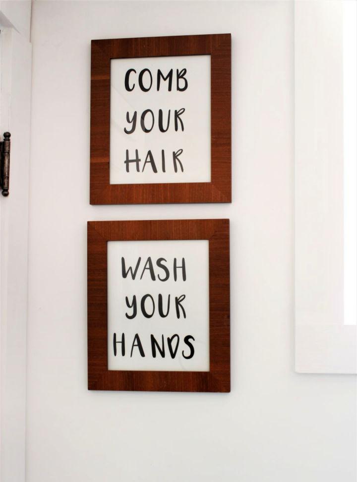 Farmhouse Style Bathroom Wall Art