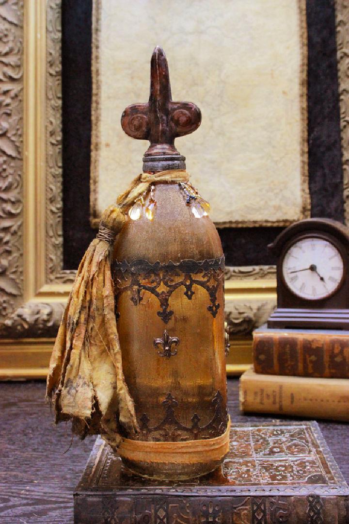 Faux Antique Treasure Bottle