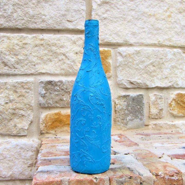 Faux Ceramic Glass Bottle Decorative
