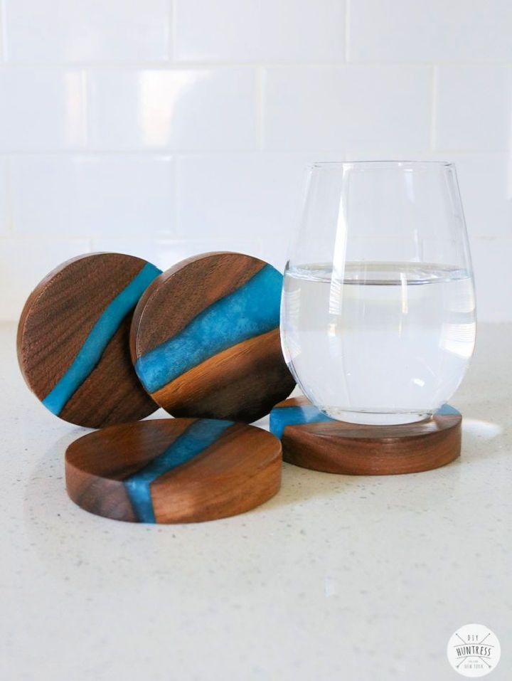 Faux Resin River Coasters