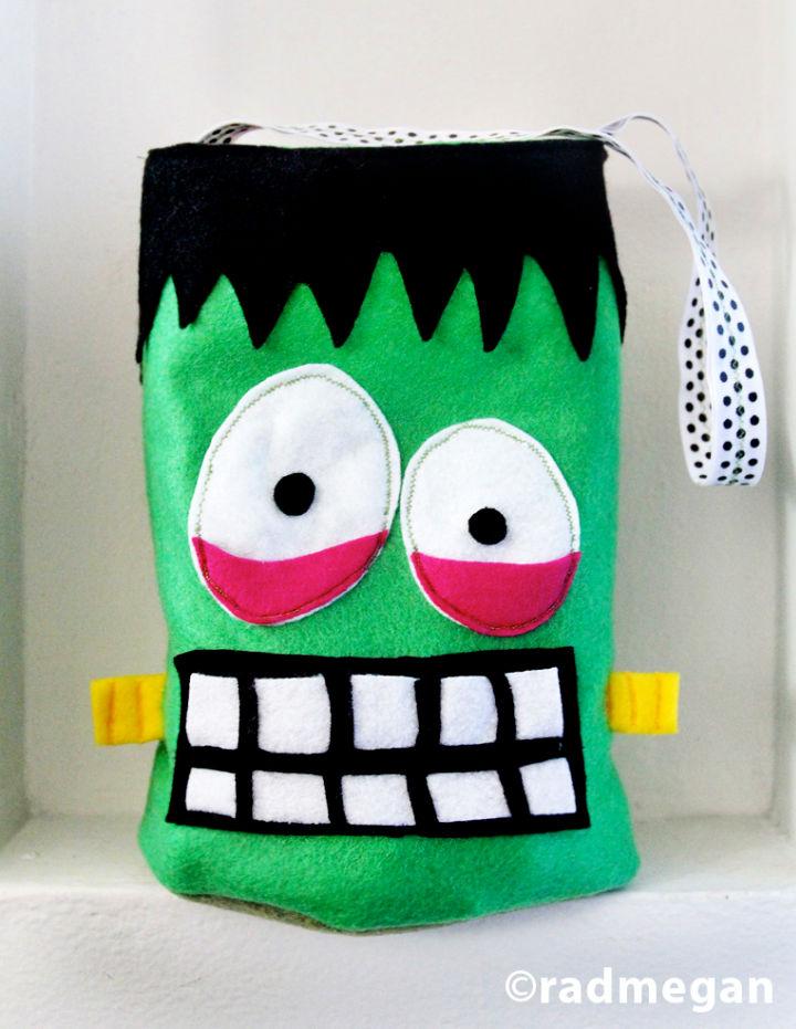 Felt Frankenstein Candy Bag