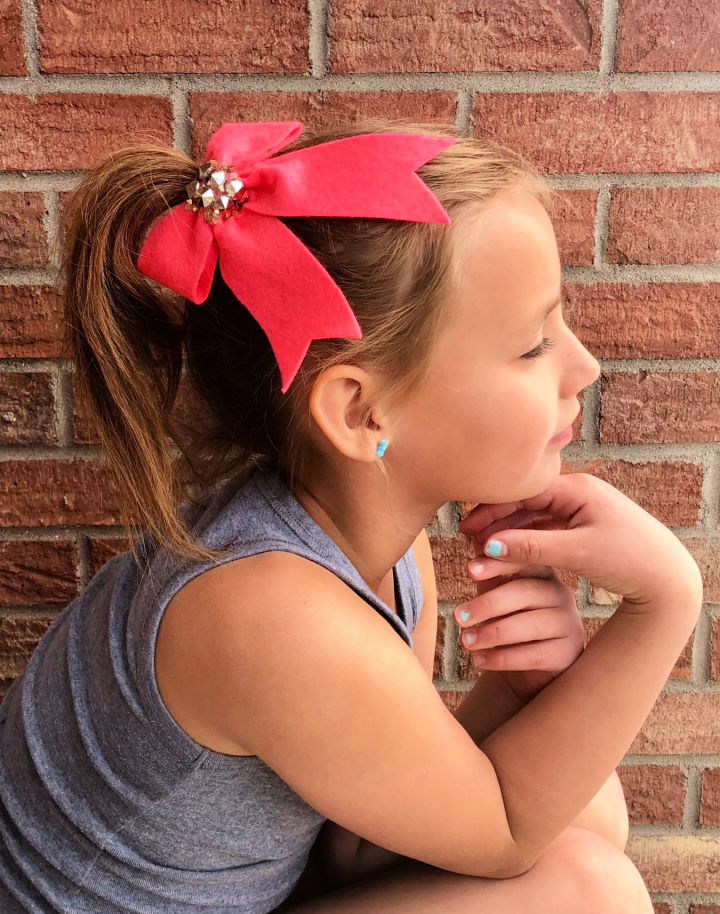 Felt Hair Bow for Girl