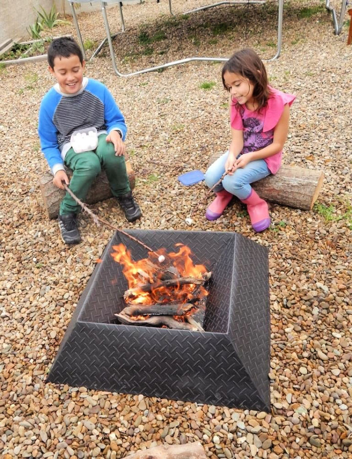 Fire Pit from Half a Sheet of Steel