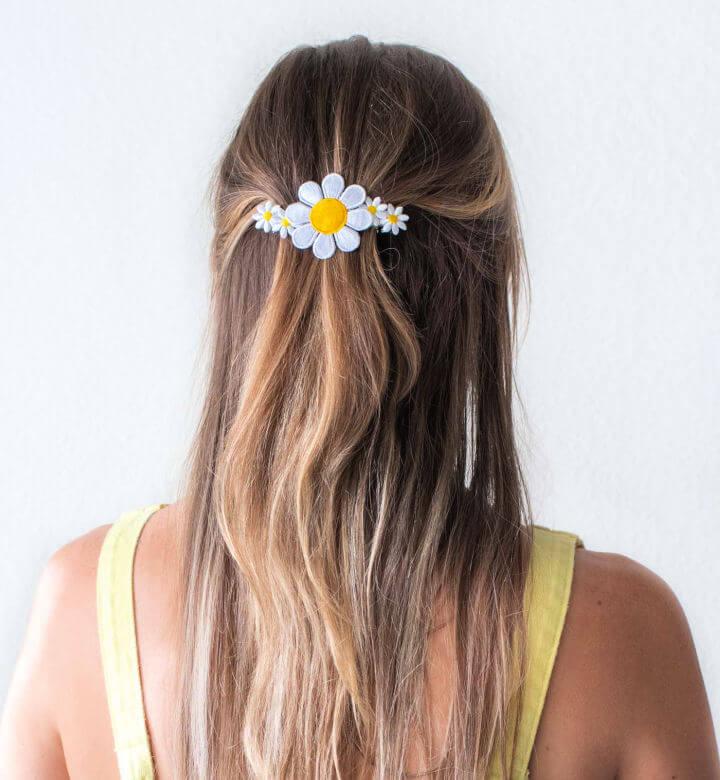 Floral Patch Barrette Hair
