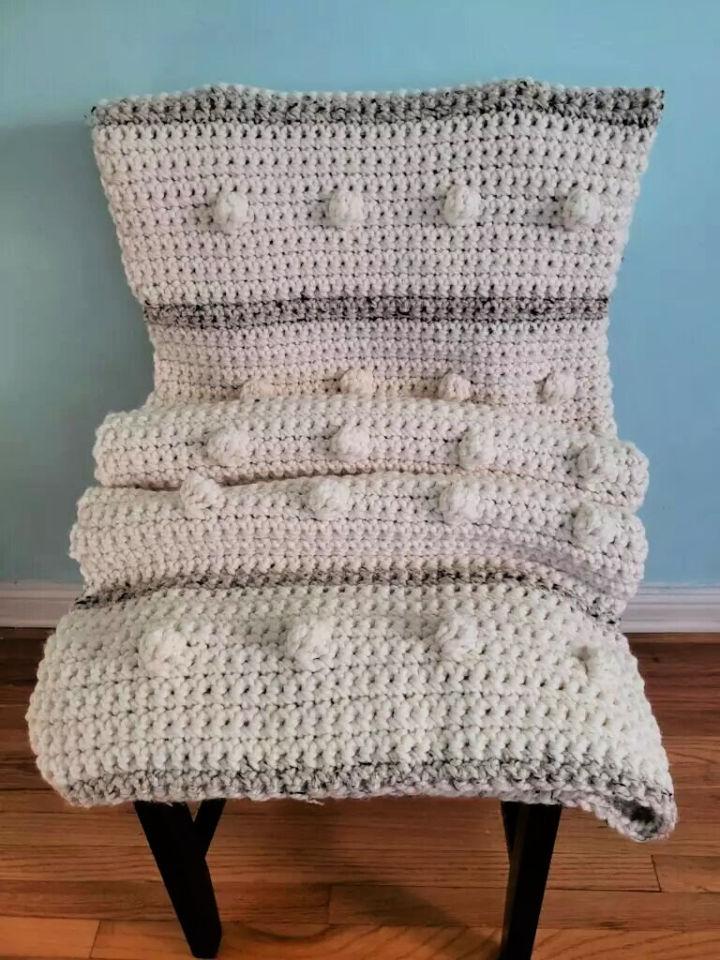Fog Horn Single Crochet Blanket