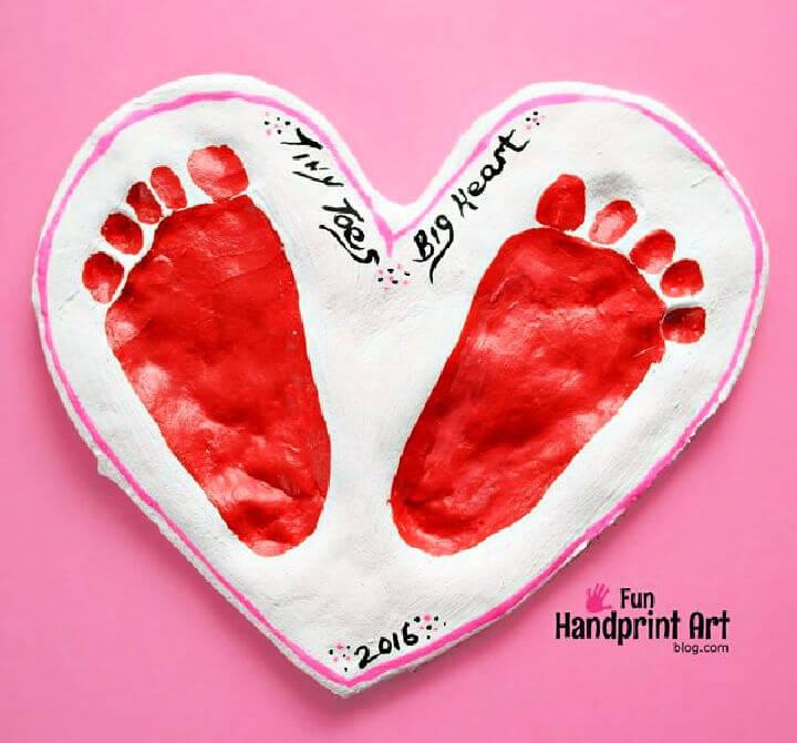 Footprint Heart Salt Dough Keepsake