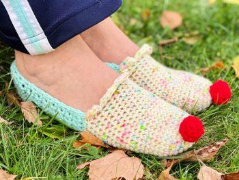 Free Crochet Cupcake Slippers Pattern