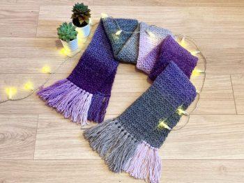 Free Crochet Heather Scarf Pattern