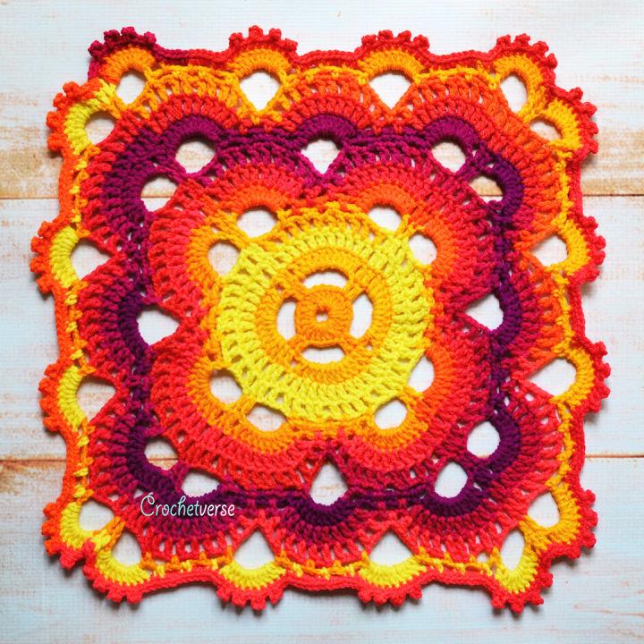 Free Virus Blanket Crochet Pattern