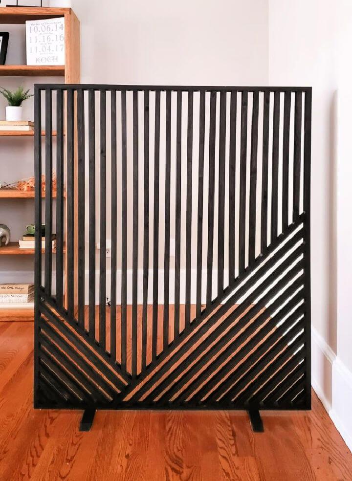 Geometric Wood Art Room Divider