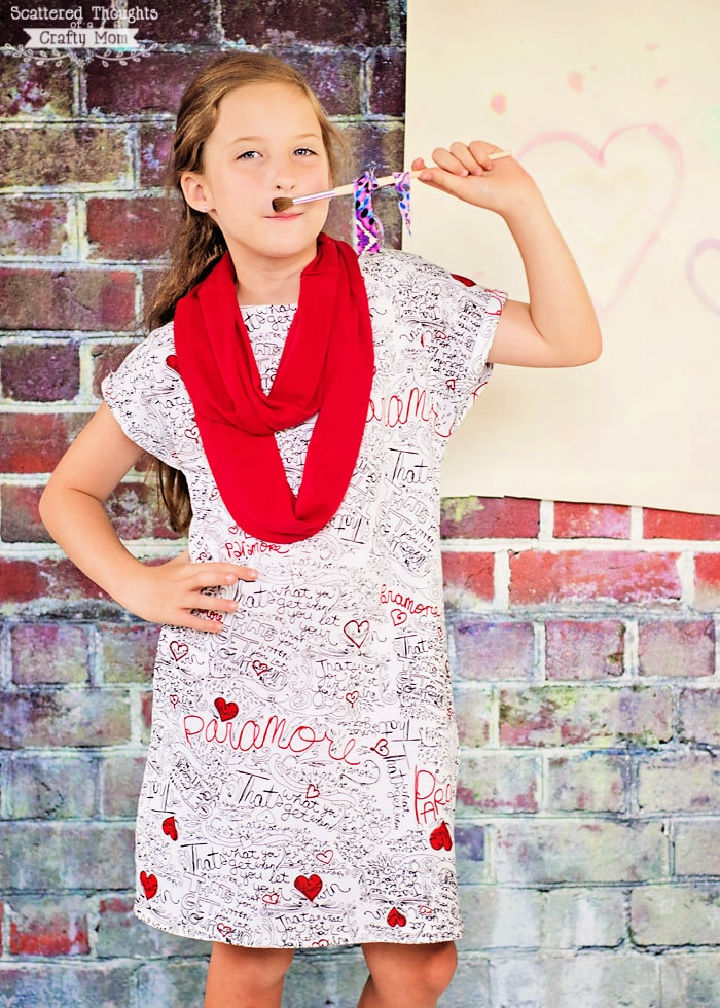 Girls a Line Pullover Swing Dress