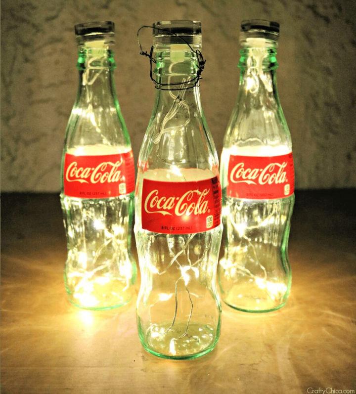 Glass Coke Bottle Luminarias