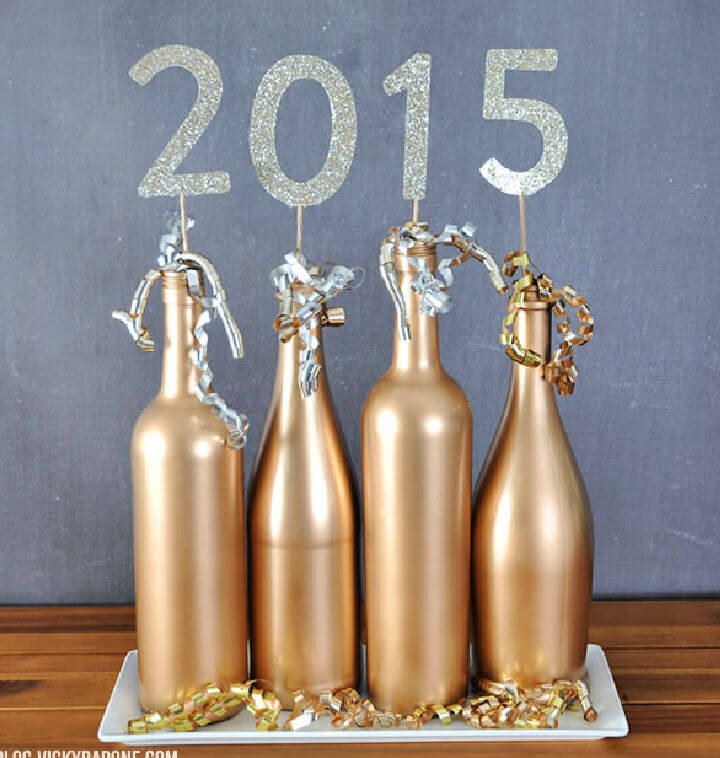 Gold Wine Bottle Centerpieces