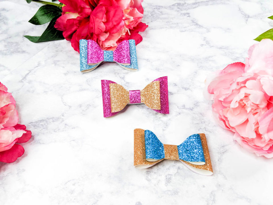 Hair Bows with Free SVG