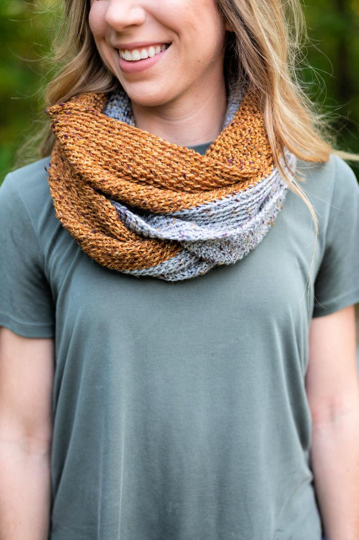 Half N Half Crochet Infinity Scarf