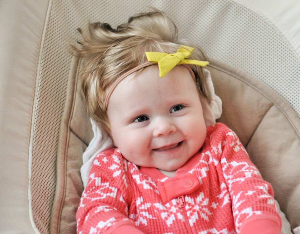 Hand Tied Baby Hair Bow