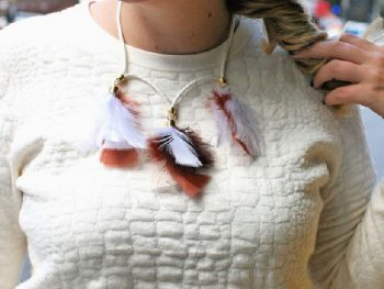Homemade Feather Necklace