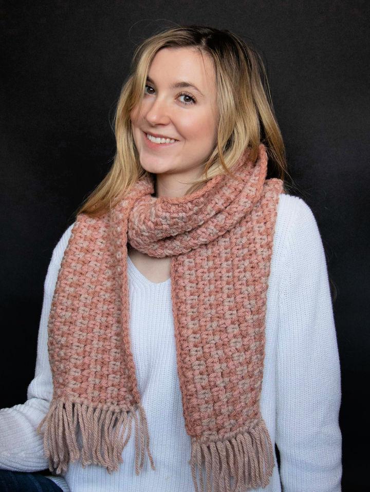 How to Crochet Rosebud Scarf